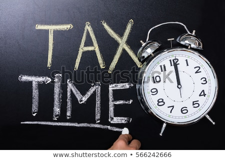 date · recettes · impôt · papier · Ouvrir · la · financière - photo stock © 3mc