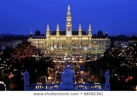 Рождества рынке город зале Вена Австрия Сток-фото © phbcz