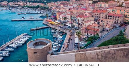Calvi port and citadel, Corsica Stock photo © Joningall