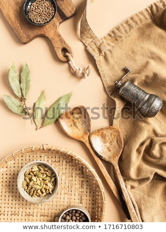 Tray with assorted dried spices and herbs Stock photo © juniart