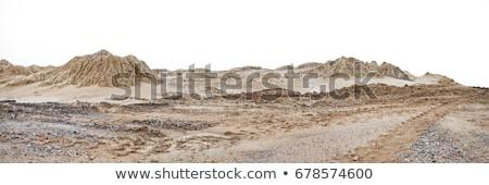 Dűne ki sóder textúra tájkép sivatag Stock fotó © meinzahn