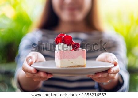 Giving cake Stock photo © Hofmeester