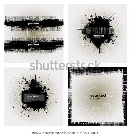 dribbelen · grunge · twee · inkt · ontwerpen · verf - stockfoto © viva