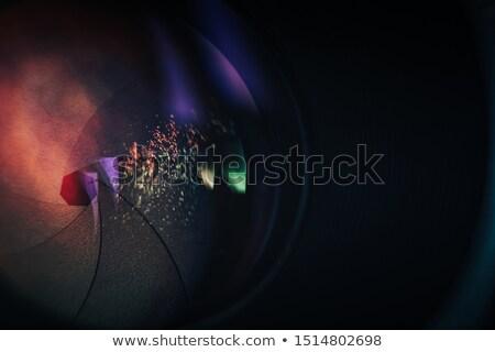 vector · logo · lens · film · cirkel · business - stockfoto © m_pavlov