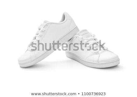 White sneakers isolated on white stock photo © anmalkov