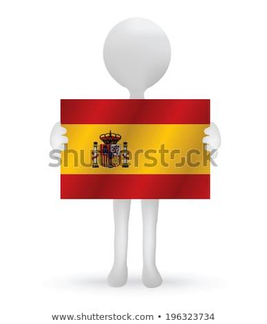 スペイン国旗 · アイコン · デザイン · 長い · 影 - ストックフォト © istanbul2009