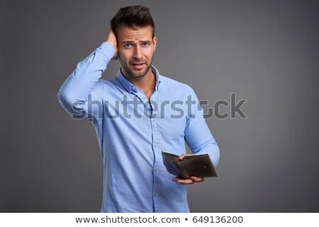 человека · несчастный · пусто · бумажник · портрет - Сток-фото © ichiosea