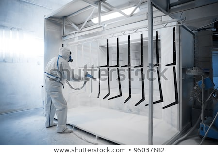 Stock photo: Powder coating in a special camera