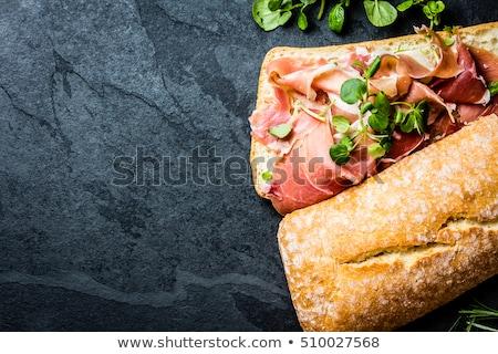 İspanyolca serrano jambon sandviç beyaz Stok fotoğraf © nito