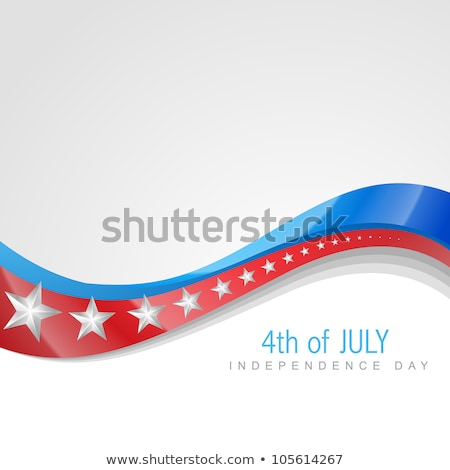 Vector Independence Day For 4th Of July Stylish Wave Background Stockfoto © PinnacleAnimates