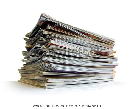 Stack of magazines studio isolated on white Stock photo © Lizard