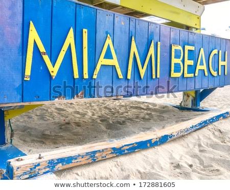 Miami strand teken badmeester hut natuur Stockfoto © meinzahn