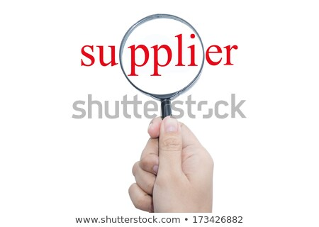 Warehouse Logistics through Magnifying Glass. Stock photo © tashatuvango