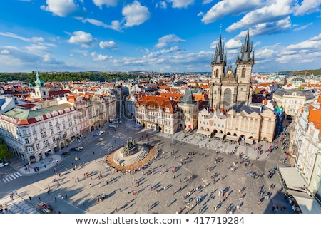 Stockfoto: Tourists At Prague Old Town Square
