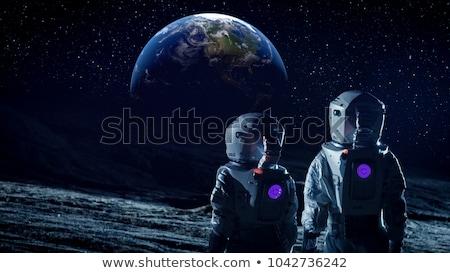 Lua olhando terra elementos imagem globo Foto stock © ankarb