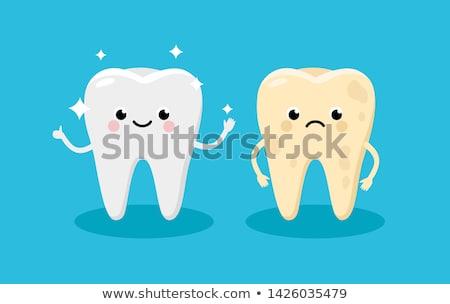 cartoon · bouche · dents · lèvres · douleur - photo stock © cteconsulting