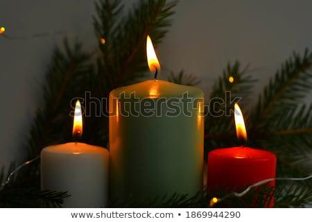 Christmas Tree and three candles Stock photo © AntonRomanov