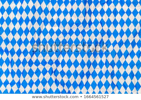 Blue and white wrinkled checkered Bavarian tablecloth Stock photo © stevanovicigor