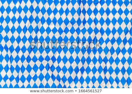 mavi · beyaz · masa · örtüsü · model · soyut · arka · plan - stok fotoğraf © stevanovicigor