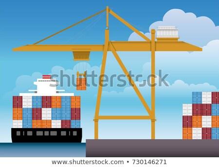 Heavy duty port crane Stock photo © phakimata