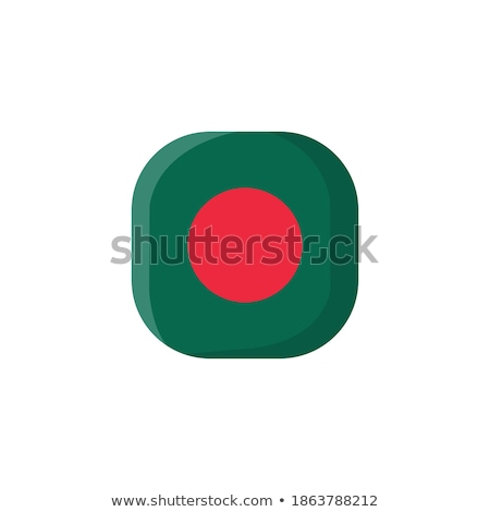 Foto stock: Botão · símbolo · Bangladesh · bandeira · mapa · branco