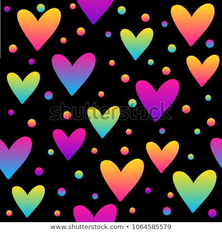 Blue flat seamless heart pattern design stock photo © slunicko