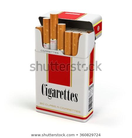 Pack сигареты изолированный белый фон дым Сток-фото © PetrMalyshev