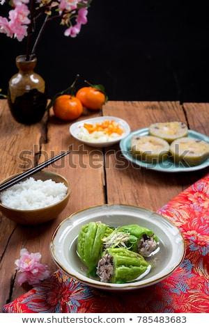 étel keserű dinnye föld hús leves Stock fotó © xuanhuongho