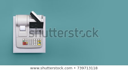 Cash Register on White Stock photo © RuslanOmega