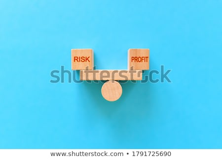 Trading - White Word on Blue Puzzles. Stock photo © tashatuvango