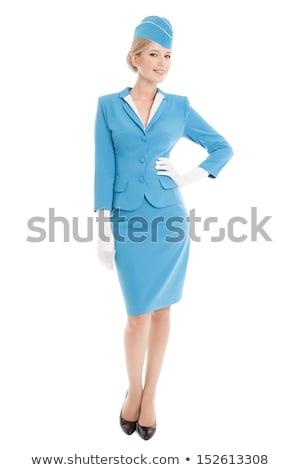 Encantador azul uniforme retrato branco Foto stock © wavebreak_media