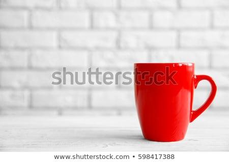Red coffee mug Stock photo © saransk