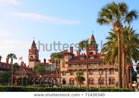 Florida · oude · stad · stad · balkon · bloemen - stockfoto © alexmillos