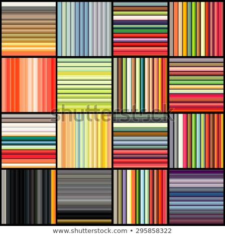 Stock photo: striped tube patterns in rainbow color over black