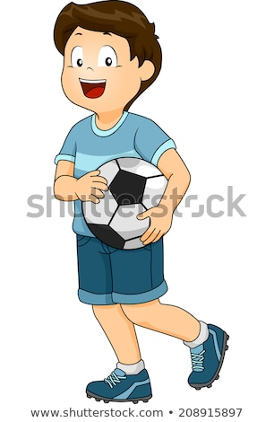 boy carrying a soccer ball stock photo © imagedb