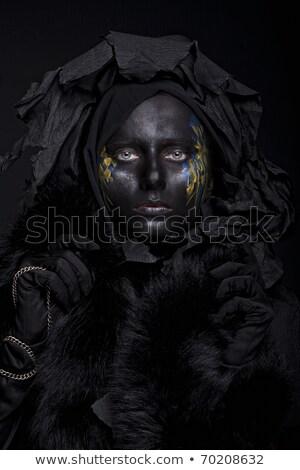Stok fotoğraf: Güzel · bir · kadın · moda · sanat · fotoğraf · makyaj