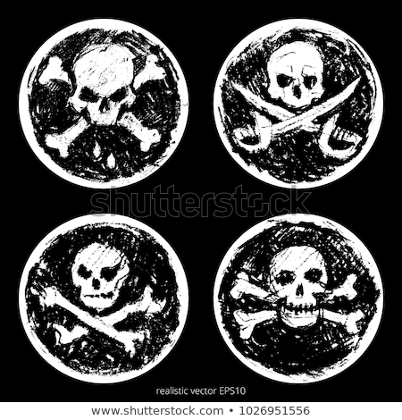 doodle jolly roger stock photo © netkov1