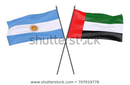 Photo stock: Émirats · arabes · unis · Argentine · drapeaux · puzzle · isolé · blanche