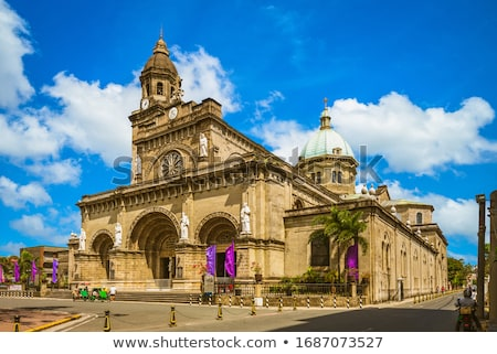 Manille cathédrale Philippines vue pierre Asie Photo stock © fazon1
