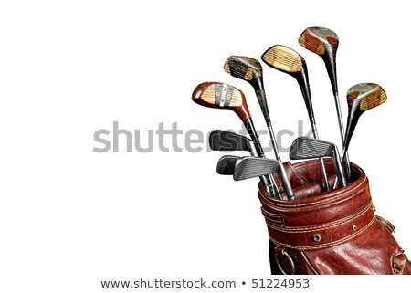 гольф-клубов изолированный белый спорт Сток-фото © shutswis