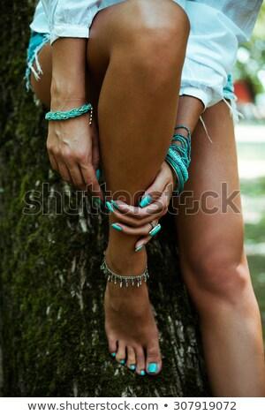 Belo mãos pé indiano feminino Foto stock © ziprashantzi
