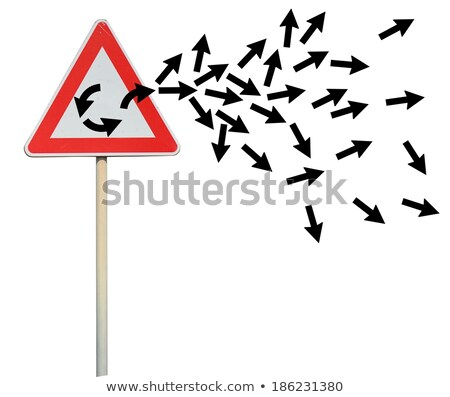 Uciec pętla liderem arrow wyjście Zdjęcia stock © alphaspirit