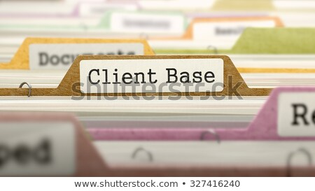 Client Base Concept on Folder Register. Stock photo © tashatuvango