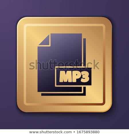 Mp3 letöltés lila vektor ikon gomb Stock fotó © rizwanali3d