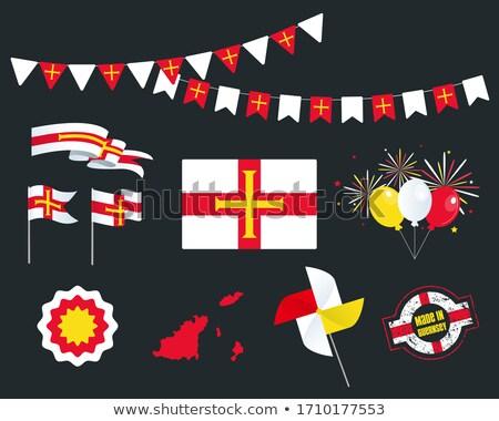 País bandeira mapa forma texto etiqueta Foto stock © tony4urban