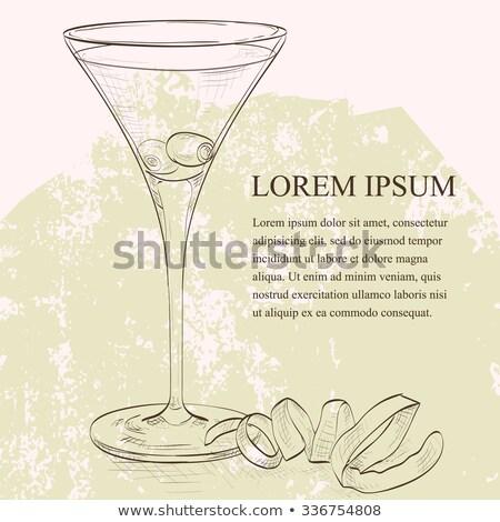 водка-мартини · оливкового · гарнир · золото · блеск · продовольствие - Сток-фото © netkov1