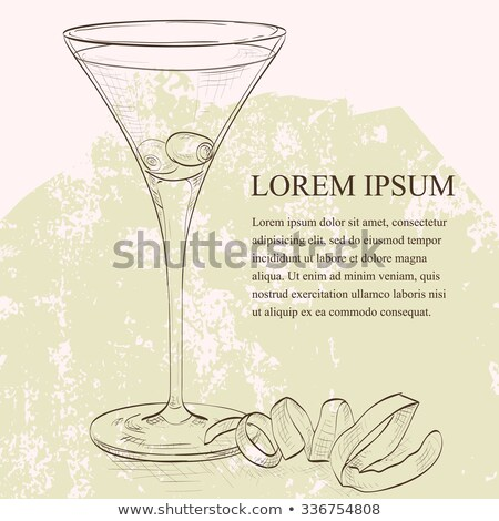 martini · vodka · oliva · enfeite · ouro · brilho · comida - foto stock © netkov1