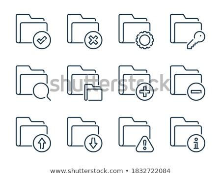folder in catalog marked as notifications stock photo © tashatuvango