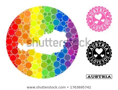 Austria gay mapa país orgullo bandera Foto stock © tony4urban