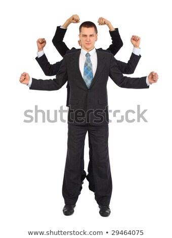 young businessman with six fists full body stock photo © paha_l